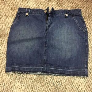 Gap jeans mini skirt